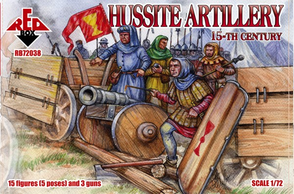 Red Box Figures  1/72 Hussite Artillery XV Century (15)