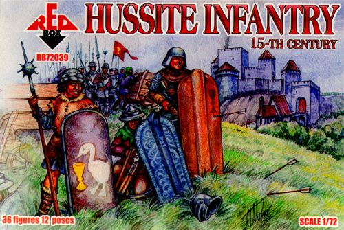 Red Box Figures  1/72 Hussite Infantry XV Century (36)