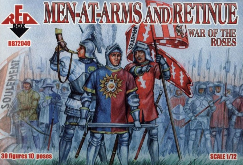 Red Box Figures  1/72 War of the Roses: Men-at-Arms & Retinue (30)