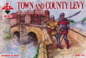 Red Box Figures  1/72 War of the Roses: Town & County Levy (40)