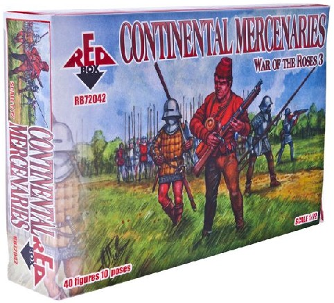Red Box Figures  1/72 War of the Roses: Continental Mercenaries (40)