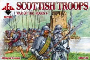 Red Box Figures  1/72 War of the Roses: Scottish Troops (40)