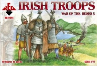 Red Box Figures  1/72 War of the Roses: Irish Troops (40)