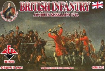 Red Box Figures  1/72 British Infantry Jacobite Rebellion 1745 (43)