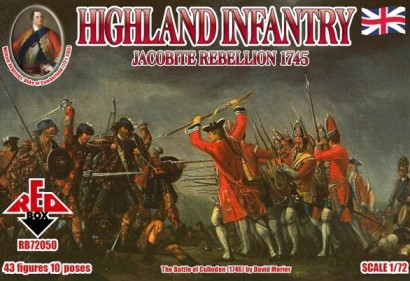 Red Box Figures  1/72 Highland Infantry Jacobite Rebellion 1745 (43)