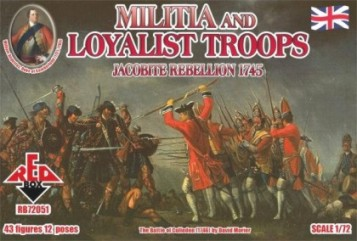 Red Box Figures  1/72 Militia & Loyalist Troops Jacobite Rebellion 1745 (43)