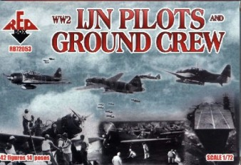 Red Box Figures  1/72 WWII IJN Pilots & Ground Crew (42)