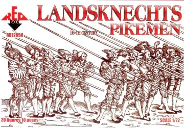 Red Box Figures  1/72 Landsknects Soldiers w/Pike Weapons XVI Century