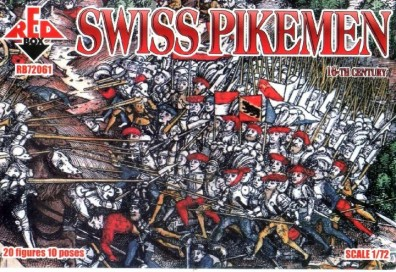Red Box Figures  1/72 Swiss Infantry w/Pike Weapons XVI Century