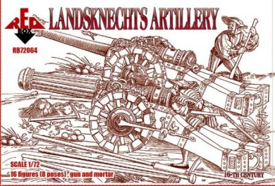 Red Box Figures 1/72 Landsknechts Artillery XVI Century (16 w/Guns & Mortar)
