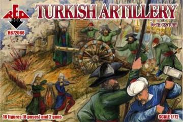 Red Box Figures 1/72 Turkish Artillery XVI Century (16 w/2 Guns)