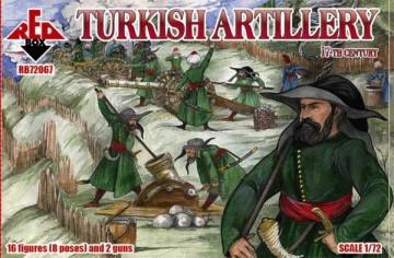 Red Box Figures 1/72 Turkish Artillery XVII Century (16 w/2 Guns)