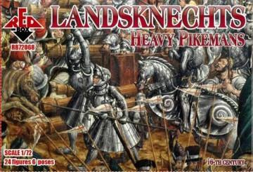 Red Box Figures 1/72 Landsknechts Heavy Pikemen XVI Century (24)