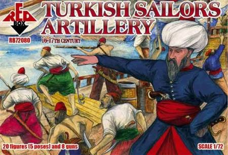 Red Box Figures  1/72 Turkish Sailors Artillery XVI-XVII Century (20)