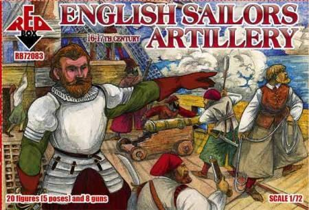 Red Box Figures  1/72 English Sailors Artillery XVI-XVII Century (20)