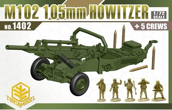Image 0 of Toxso Models  1/72 M102 105mm Howitzer Gun w/5 Crew