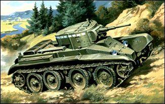 Unimodels Plastic Model Kit 1/72 BT5 WWII Soviet Tank