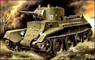 Image 0 of Unimodels Plastic Model Kit 1/72 BT7 WWII Russian Light Tank Mod. 1935