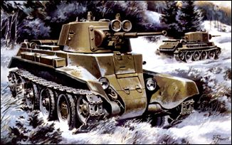Unimodels Plastic Model Kit 1/72 BT7 WWII Russian Light Tank Mod. 1937