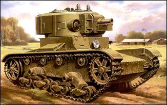 Image 0 of Unimodels Plastic Model Kit 1/72 T26-4 Russian Artillery Tank (D)
