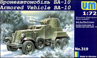 Unimodels Plastic Model Kit 1/72 BA10 Russian Armored Vehicle