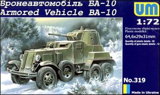 Image 0 of Unimodels Plastic Model Kit 1/72 BA10 Russian Armored Vehicle