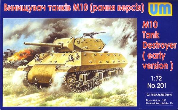 Image 0 of Unimodels Plastic Model Kit 1/72 M10 Early Tank Destroyer (D)
