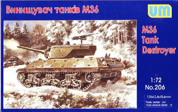 Unimodels Plastic Model Kit 1/72 M36 Tank Destroyer