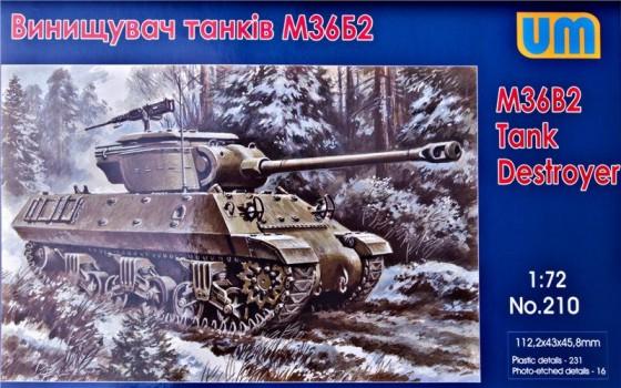 Unimodels Plastic Model Kit 1/72 M36B2 Tank Destroyer