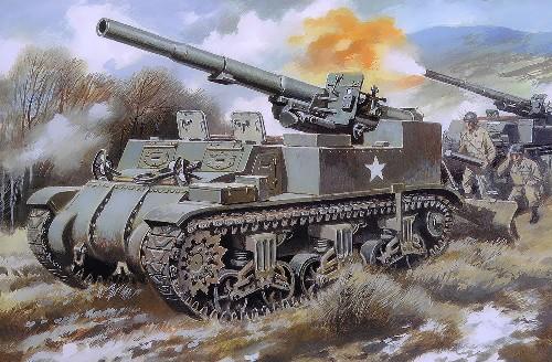 Unimodels Plastic Model Kit 1/72 M12 155mm US King Kong Gun Motor Carriage
