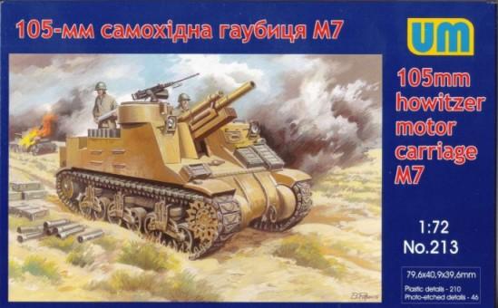 Image 0 of Unimodels Plastic Model Kit 1/72 M7 105mm Howitzer Motor Carriage Self-Propelled