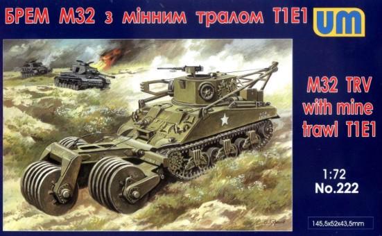 Unimodels Plastic Model Kit 1/72 M32 Tank Recovery Vehicle w/T1E1 Mine Trawl