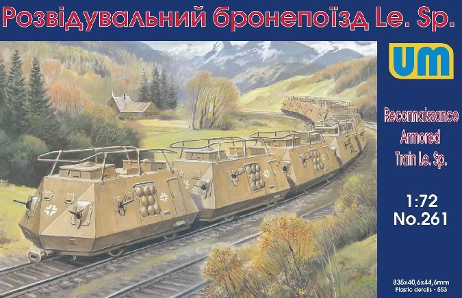Image 0 of Unimodels Plastic Model Kit 1/72 LeSp Recon Armored Railcars (10) (D)