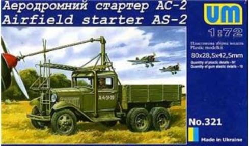 Unimodels Plastic Model Kit 1/72 AS2 Airfield Starter on GAZ-AAA Truck Chassis