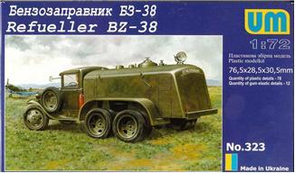 Unimodels Plastic Model Kit 1/72 BZ38 Refueling Truck (D)
