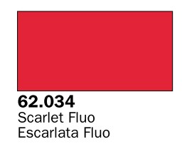 Vallejo Paints 60ml Bottle Fluorescent Scarlet Premium