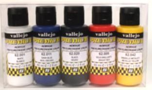 Vallejo Paints60ml Bottle Metallic Premium Paint Set (5 Colors)