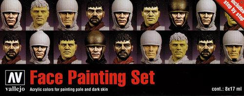Vallejo Paints 17ml Bottle Face Painting Set (8 Colors)