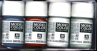 Vallejo Paints 30ml Bottles Textures Effect Set (4 Different)