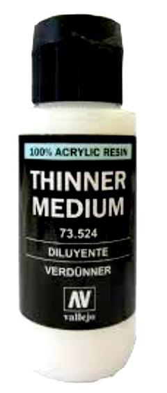Vallejo Paints 60ml Bottle Thinner Medium