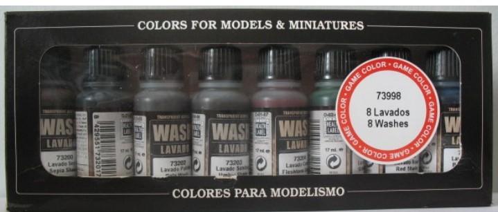Image 0 of Vallejo Paints 17ml Bottle Wash Set (8 Colors)