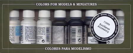 Vallejo Paints 17ml Bottle Auxiliary Accessory Set (8 Different)