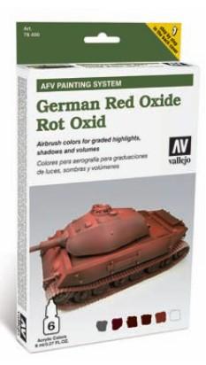 Vallejo Paints 8ml Bottle German Red Oxide AFV Paint Set (6 Colors)