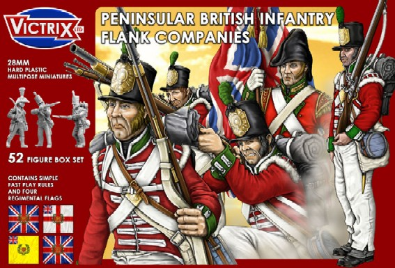 Victrix LTD Figures 28mm British Peninsular Infantry Flank Companies (52)