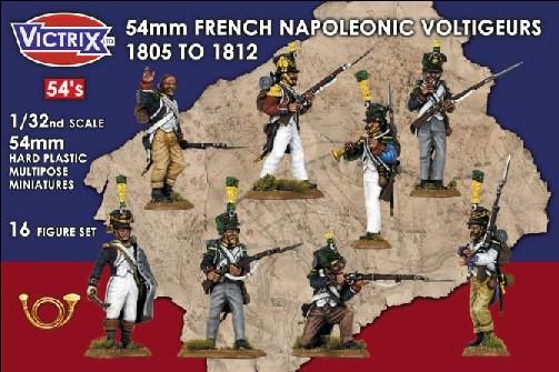 Image 0 of Victrix LTD Figures 54mm French Napoleonic Voltigeurs 1805-1812 (16)