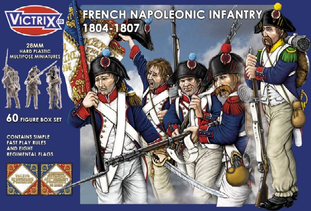 Image 0 of Victrix LTD Figures 28mm French Napoleonic Infantry 1804-1807 (60)