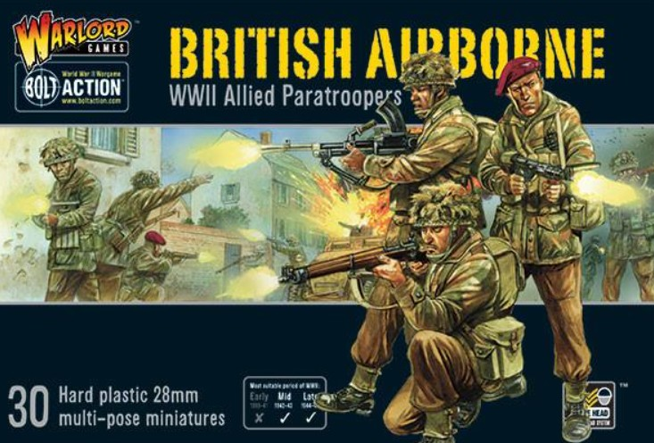 Warlord Games 28mm Bolt Action: WWII British Airborne Allied Paratroopers (30) (