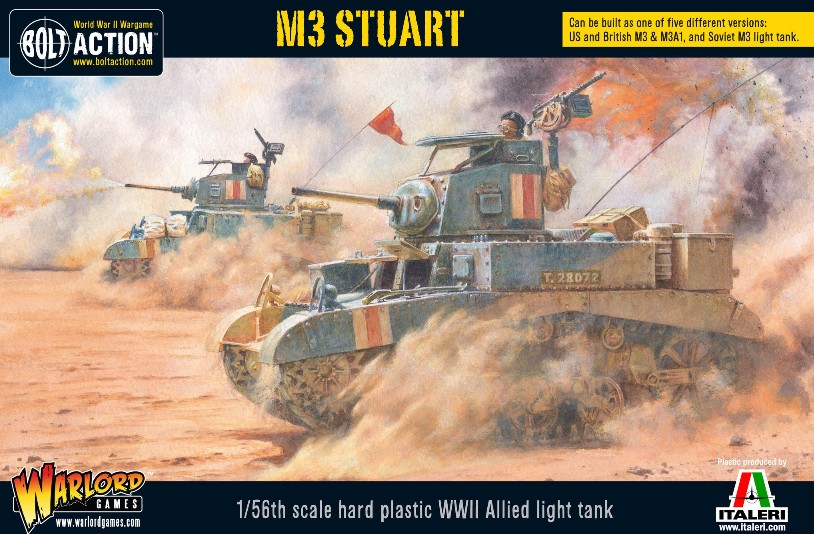 Warlord Games 28mm Bolt Action: WWII M3 Stuart Allied Light Tank (Plastic)