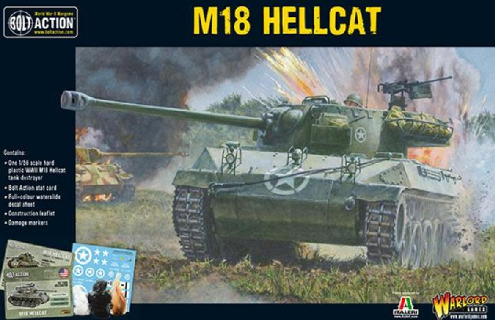 Warlord Games 28mm Bolt Action: WWII M18 Hellcat US Tank Destroyer (Plastic)