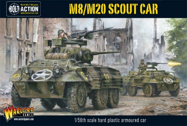 Warlord Games 28mm Bolt Action: WWII M8/M20 Greyhound US Scout Car (Plastic)
